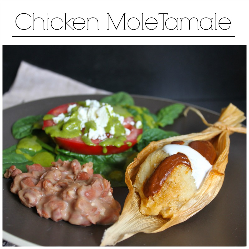 Home made chicken mole tamale. Easier than I thought and so delcious!