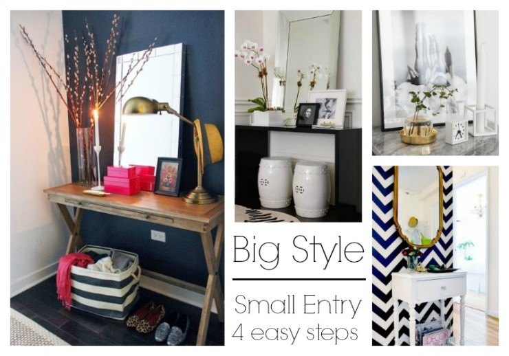big style for small entry with 4 easy decorating tips