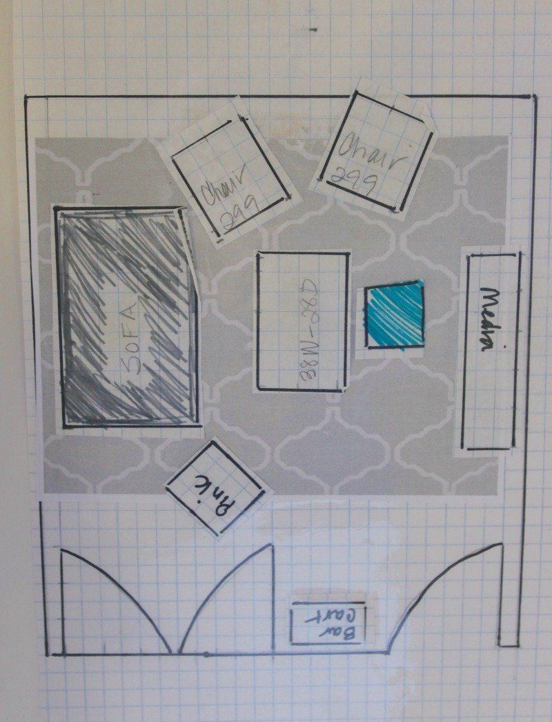 room layout for virtual style services from Burlap and Crystal