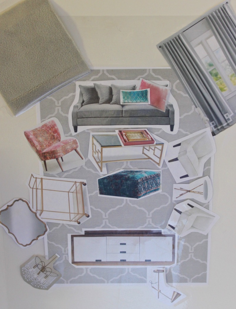 vission board for San Francisco apartment. Virtual style by Burlap and Crystal