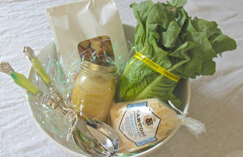 Caesar salad gift set DIY inspired.
