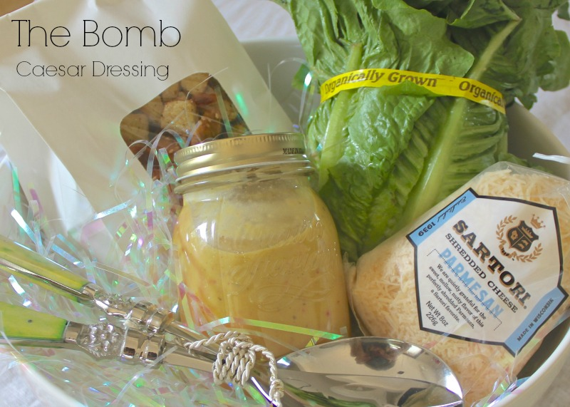 Thed bomb Caesar Salad dressing. The perfect gift for a friend.