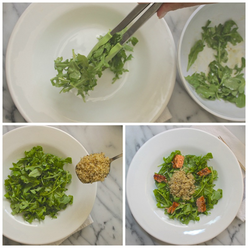 skinny minute salad serves as a skinny meal. It's as easy as 1 2 3.