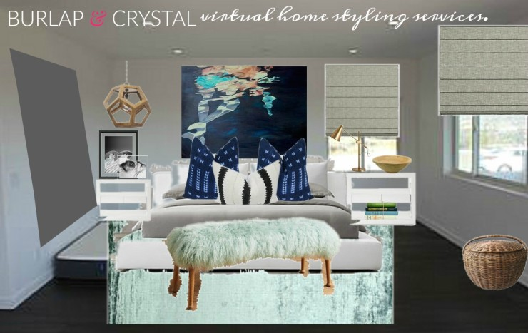 Burlap and Crystal virtual design servicesOB-Carly and Adam Master bedroom