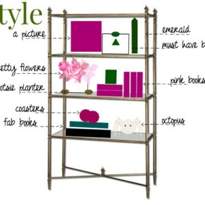 Styling a bookcase with fab finds